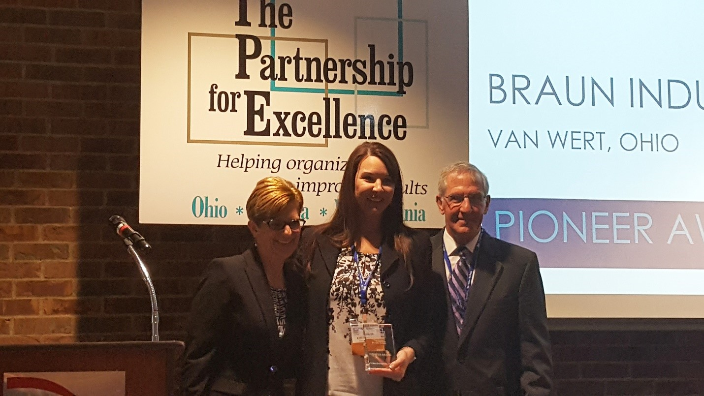 Braun Presented with Pioneer Award from The Partnership for Excellence